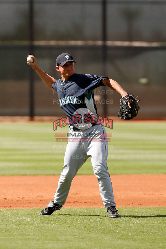 Kyle Seager - Seattle Mariners 2009 Instructional League. .Photo by:  Bill Mitchell/Four Seam Images..
