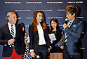 Tommy Hilfiger, Jessica Alba, Apr 16, 2012 : (L-R)Fashion designer Tommy Hilfiger, actress Jessica Alba and Japanese singer GACKT attend the Tommy Hilfiger Omotesando Flagship Store opening in Tokyo, Japan, on April 16, 2012.