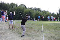 Christopher Mivis (BEL) plays his 2nd shot on the 12th hole during Saturday's Round 3 of the Porsche European Open 2018 held at Green Eagle Golf Courses, Hamburg Germany. 28th July 2018.<br /> Picture: Eoin Clarke | Golffile<br /> <br /> <br /> All photos usage must carry mandatory copyright credit (&copy; Golffile | Eoin Clarke)