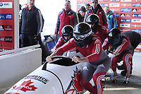 4 Man Bobsled competition at the 2012-13 World Cup Bobsled at Lake Placid, New York