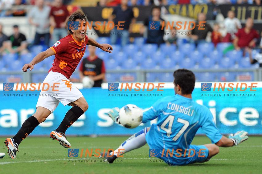 "il gol di bojan krkic (roma)..Roma 01-10-2011 ""Stadio Olimpico""..Calcio Football Serie A 2011-2012..Roma Atalanta..Foto Insidefoto Massimo Oliva"