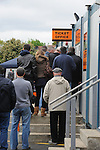 Barnet 1 Rochdale 0, 08/05/2010. Underhill Stadium, League 2. The final game of the season at Underhill. The Bees must beat Rochdale to guarantee their survival. Rochdale are celebrating promotion to League one. Barnet supporters queue for tickets. Photo by Simon Gill.