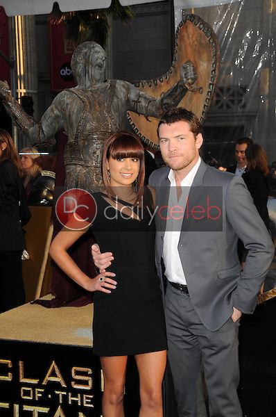 Natalie Mark and Sam Worthington<br />