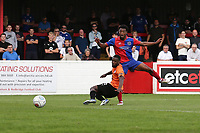 Chike Kandi of Dagenham and Redbridge goes close during Dagenham & Redbridge vs Chesterfield, Vanarama National League Football at the Chigwell Construction Stadium on 15th September 2018