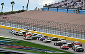 #19: Brandon Jones, Joe Gibbs Racing, Toyota Supra Menards/Jeld-Wen and #2: Tyler Reddick, Richard Childress Racing, Chevrolet Camaro Hurdl