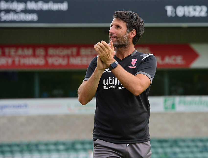 Lincoln City manager Danny Cowley<br /> <br /> Photographer Chris Vaughan/CameraSport<br /> <br /> Football Pre-Season Friendly - Lincoln City v Stoke City - Wednesday July 24th 2019 - Sincil Bank - Lincoln<br /> <br /> World Copyright © 2019 CameraSport. All rights reserved. 43 Linden Ave. Countesthorpe. Leicester. England. LE8 5PG - Tel: +44 (0) 116 277 4147 - admin@camerasport.com - www.camerasport.com