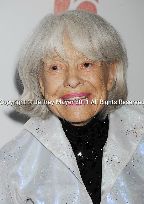 "CULVER CITY, CA - OCTOBER 15: Carol Channing attends the The 6th Annual ""A Fine Romance"" Event at Sony Pictures Studios on October 15, 2011 in Culver City, California."