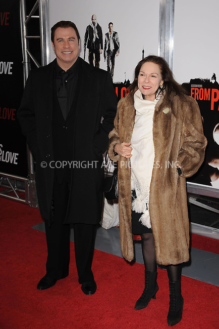 WWW.ACEPIXS.COM . . . . . ....January 28 2010, New York City....John Travolta and Karen Lynn Gorney arriving at the 'From Paris With Love' premiere at the Ziegfeld Theatre on January 28, 2010 in New York City. ....Please byline: KRISTIN CALLAHAN - ACEPIXS.COM.. . . . . . ..Ace Pictures, Inc:  ..(212) 243-8787 or (646) 679 0430..e-mail: picturedesk@acepixs.com..web: http://www.acepixs.com