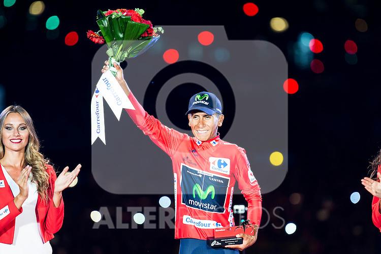 Nairo Quintana, winner of La Vuelta a España 2016 in Madrid. September 11, Spain. 2016. (ALTERPHOTOS/BorjaB.Hojas)