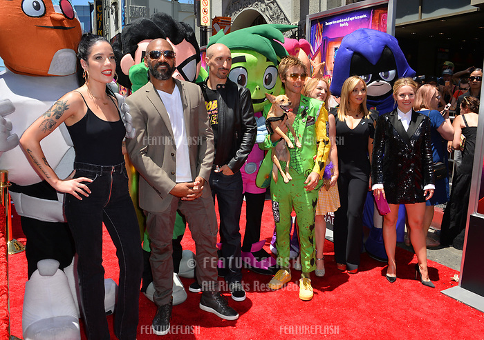Halsey, Khary Payton, Scott Melville, Greg Cipes, Hynden Walch, Tara Strong  &amp; Kristen Bell at the premiere for &quot;Teen Titans Go! to the Movies&quot; at the TCL Chinese Theatre, Los Angeles, USA 22 July 2018<br /> Picture: Paul Smith/Featureflash/SilverHub 0208 004 5359 sales@silverhubmedia.com