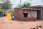 Laundry Drying in Village Yard in Botswana in Africa