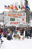 Deborah Bicknell Willow restart Iditarod 2008.
