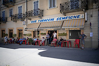 Waiting for the race to roll by at a Bar Tabacchi <br /> <br /> 101st Milano-Torino 2020 (UCI 1.Pro)<br /> 1 day race from Mesero to Stupinigi (198km)