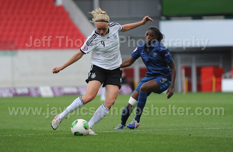 Action during the UEFA Womens U19 Semi-Final at Parc y Scarlets Wednesday 28th August 2013. All images are the copyright of Jeff Thomas Photography-www.jaypics.photoshelter.com-07837 386244-Any use of images must be authorised by the copyright owner.