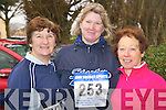 Joan O'Sullivan, Currans, Mary Kavanagh O'Sullivan, Adrigole and Geraldine O'Sullivan, Bantry, at the Charles O'Shea memorial 10k road race in Beaufort on Sunday.