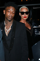 NEW YORK, NY - SEPTEMBER 9: 21 Savage  and Amber Rose at the 2017 Harper's Bazaar Icons at The Plaza Hotel on September 9, 2017 in New York City. <br /> CAP/MPI/DC<br /> &copy;DC/MPI/Capital Pictures