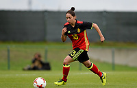 20170914 - TUBIZE ,  BELGIUM : Belgian Lola Wajnblum pictured during the friendly female soccer game between the Belgian Red Flames and European Champion The Netherlands , a friendly game in the preparation for the World Championship qualification round for France 2019, Thurssday 14 th September 2017 at Euro 2000 Center in Tubize , Belgium. PHOTO SPORTPIX.BE | DAVID CATRY