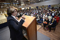 "BOGOTÁ -COLOMBIA. 10-10-2014. Aida Abella, presidenta de la UP, interviene durante el encuentro por la ""Dignidad de las Víctimas del Genocidio contra La UP"" realizado hoy, 10 de octuber de 2014, en la ciudad de Bogotá./ JAida Abella, president of the UP, in her speech during the meeting for the ""Dignity of Victims of Genocide against The UP"" took place today, October 10 2014, at Bogota city. Photo: Reiniciar /VizzorImage/ Gabriel Aponte<br />