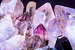 A close up view of crystals from Montana