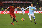 1st December 2017, Stadio Olimpico, Rome, Italy; Serie A football. AS Roma versus Spal;  Cengiz Under shoots past Federico Viviani