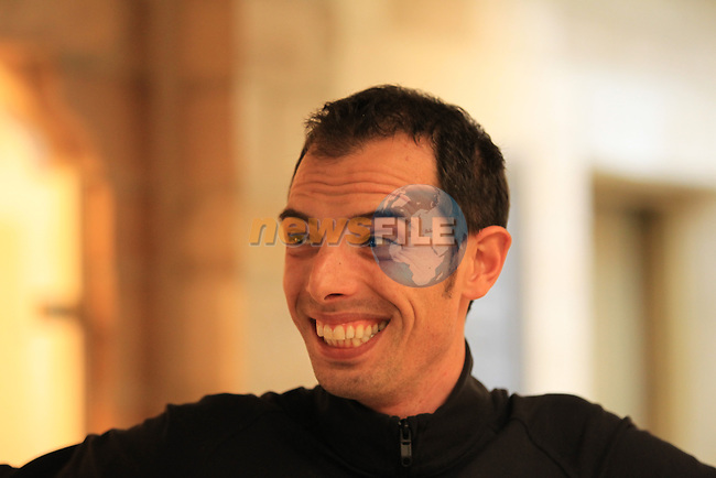 Alessandro Ballan (ITA) BMC Racing Team rider at a press conference held by BMC before the 2013 Tour of Flanders held in Hotel Broel in Kortrijk, Belgium,Friday 29th  March 2013 (Photo by Eoin Clarke 2013)