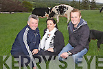Pictured last Friday evening was John and Donna Dillon of Pipershill Farm, Duagh with farm manager Gearoid Keating ahead of the annual judging competition held by the Kerry Holstien Breeders Club.