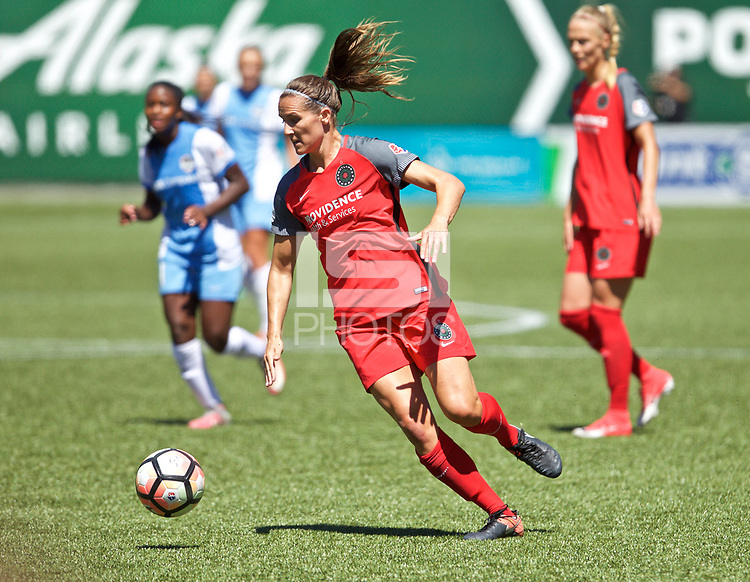 Portland, OR - Saturday August 05, 2017: Katherine Reynolds during a regular season National Women's Soccer League (NWSL) match between the Portland Thorns FC and the Houston Dash at Providence Park.