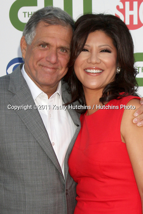 LOS ANGELES - AUG 3:  Les Moonves, Julie Chen arriving at the CBS TCA Summer 2011 All Star Party at Robinson May Parking Garage on August 3, 2011 in Beverly Hills, CA