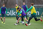 17.01.2020, Trainingsgelaende am wohninvest WESERSTADION,, Bremen, GER, 1.FBL, Werder Bremen Training ,<br /> <br /> <br />  im Bild<br /> <br /> Yuya Osako (Werder Bremen #08)7<br /> Nuri Sahin (Werder Bremen #17)<br /> Simon Straudi (Werder Bremen #26)<br /> Joshua Sargent (Werder Bremen #19)<br /> Nick Woltemade (werder Bremen #41)<br /> <br /> Foto © nordphoto / Kokenge