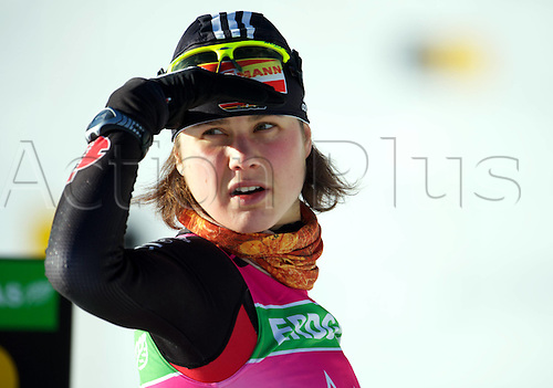 08.12.2011. Hochfilzen, Austria. women Tina Bachmann ger taking part in the IBU Biathlon World Cup