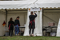 General view of pre match preparation at Dillingham Park, home of Ampthill Ruby ahead of the Greene King IPA Championship match between Ampthill RUFC and Nottingham Rugby on Ampthill Rugby's Championship Debut at Dillingham Park, Woburn St, Ampthill, Bedford MK45 2HX, United Kingdom on 12 October 2019. Photo by David Horn.