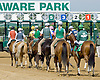 """The field before The Grover """"Buddy"""" Delp Memorial Stakes at Delaware Park on 5/23/12"""