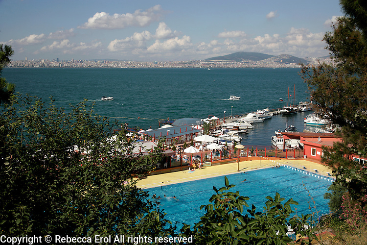 A view from Kinaliada out to the Sea of Marmara, Istanbul, Turkey