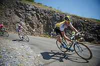Sep Vanmarcke (BEL/LottoNL-Jumbo) descending<br /> <br /> stage 12: Lannemezan - Plateau de Beille (195km)<br /> 2015 Tour de France