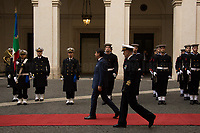 (From L to R) Giuseppe Conte (Italian Prime Minister) & Admiral Sq. Carlo Massagli (Military Advisor of the Prime Minister and Head of the Secretariat Office).<br />