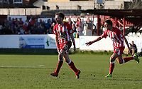 Shay McCartan of Accrington Stanley celebrates scoring the equaliser Accrington Stanley 1 Grimsby Town 1 <br /> during the Sky Bet League 2 match between Accrington Stanley and Grimsby Town at the Fraser Eagle Stadium, Accrington, England on 25 March 2017. Photo by Tony  KIPAX / PRiME Media Images.
