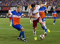 Cincinnati, OH - Tuesday August 15, 2017: Alex Muyl during a 2017 U.S. Open Cup game between FC Cincinnati vs New York Red Bulls at Nippert Stadium.