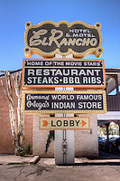 "Hotel El Rancho in Gallup New Mexico, ""The Home of the Movie Stars"" was built in 1937 as a haven for Hollywoods famous.  The Hotel has been restored and is a favorite stop on Route 66."
