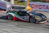 Martin Fuentes, #07 Ferrari 458 GT3 Italia, Pirelli World challenge race, Long Beach Grand Prix, Long Beach, CA, April 2015.  (Photo by Brian Cleary/ www.bcpix.com )