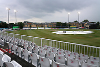 The covers are on the outfield as rain delays the start of play during Essex CCC vs Middlesex CCC, Specsavers County Championship Division 1 Cricket at The Cloudfm County Ground on 27th June 2017