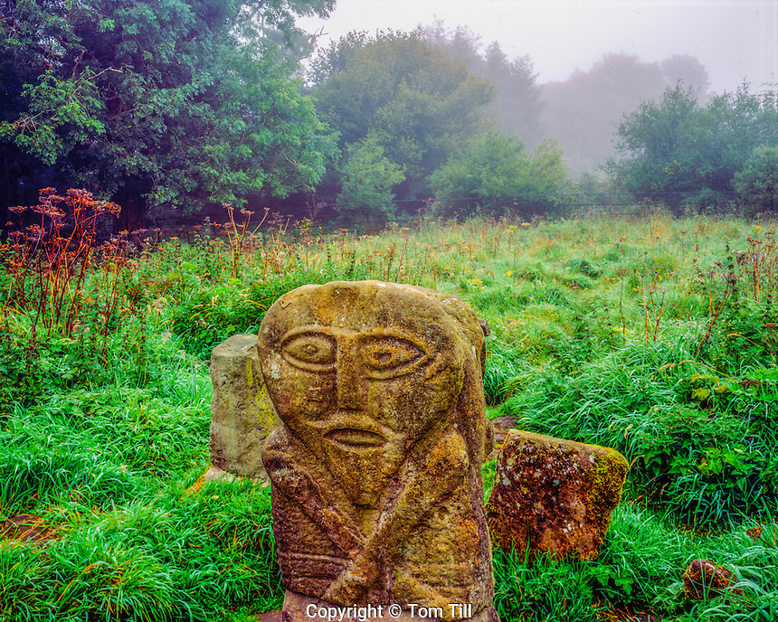Ancient Janus Carving, Northern Ireland, United Kingdom, Statue of unkown origin, County Fermanagh, Boa Island