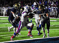 NWA Democrat-Gazette/CHARLIE KAIJO Arkadelphia High School linebacker Kyren Harrison (2) carries the ball for a score during a Class 4A semi-final playoff football game, Saturday, December 1, 2018 at Champions Stadium at Shiloh Christian High School in Springdale.