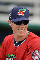 Fort Myers Miracle pitcher Alex Muren (24) before a game against the Tampa Yankees on April 15, 2015 at Hammond Stadium in Fort Myers, Florida.  Tampa defeated Fort Myers 3-1 in eleven innings.  (Mike Janes/Four Seam Images)