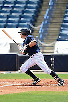 Tampa Yankees designated hitter Dante Bichette Jr. (25) during a game against the Daytona Cubs on April 13, 2014 at George M. Steinbrenner Field in Tampa, Florida.  Tampa defeated Daytona 7-3.  (Mike Janes/Four Seam Images)