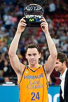 Herbalife Gran Canaria's player Kyle Kuric winner of the MVP award during the final of Supercopa of Liga Endesa Madrid. September 24, Spain. 2016. (ALTERPHOTOS/BorjaB.Hojas) NORTEPHOTO.COM