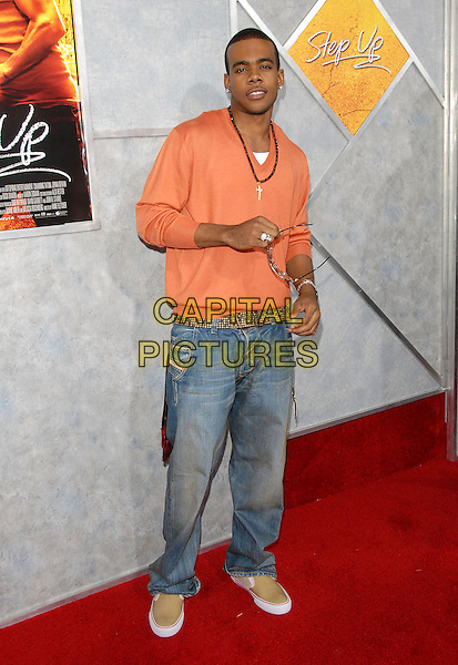 "MARIO.World Premiere of ""Step Up"" held at The Arclight Cinemas in Hollywood, California, USA..August 7th, 2006.Ref: DVS.full length jeans denim peach orange top.www.capitalpictures.com.sales@capitalpictures.com.©Debbie VanStory/Capital Pictures"