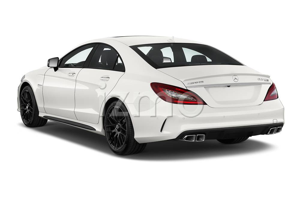 Car pictures of rear three quarter view of 2018 Mercedes Benz CLS-Class AMG-CLS63-4MATIC 4 Door Sedan Angular Rear