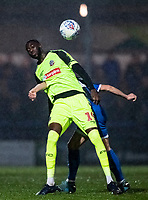 Bolton Wanderers' Muhammadu Faal competing with Rochdale's Jimmy Keohane (right) <br /> <br /> Photographer Andrew Kearns/CameraSport<br /> <br /> The EFL Sky Bet League One - Rochdale v Bolton Wanderers - Saturday 11th January 2020 - Spotland Stadium - Rochdale<br /> <br /> World Copyright © 2020 CameraSport. All rights reserved. 43 Linden Ave. Countesthorpe. Leicester. England. LE8 5PG - Tel: +44 (0) 116 277 4147 - admin@camerasport.com - www.camerasport.com