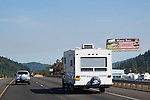 Towing RVs on freeway