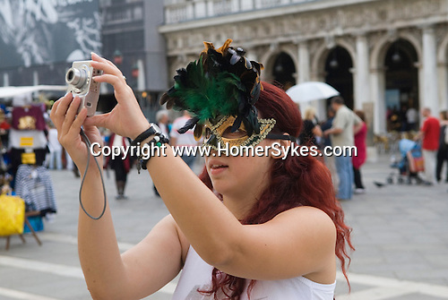 Venice Italy 2009. Saint Marks Square,  Piazza San Marco. tourist